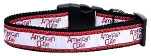 American Cutie Ribbon Dog Collars Large