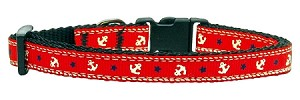 Anchors Nylon Ribbon Collar Red X-Small