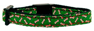 Candy Cane Bones Nylon and Ribbon Collars Cat Safety