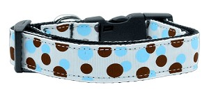 Confetti Dots Nylon Collar Baby Blue Large