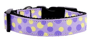 Confetti Dots Nylon Collar Lavender Medium