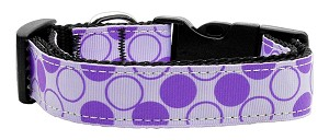 Diagonal Dots Nylon Collar Lavender Large