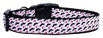 Moustache Love Ribbon Dog Collars Medium