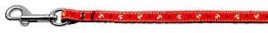 Anchors Nylon Ribbon Leash Red 3/8 wide 6ft Long