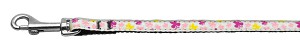 Butterfly Nylon Ribbon Collar White 3/8 wide 4Ft Lsh
