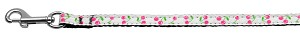 Cherries Nylon Collar White 3/8 wide 6Ft Lsh