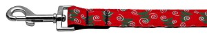 Christmas Trees Nylon and Ribbon Collars 1'' wide x 6' Leash