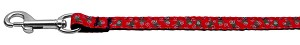 Christmas Trees Nylon and Ribbon Collars . 3/8'' wide x 4' Leash