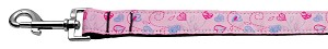 Crazy Hearts Nylon Collars Light Pink 1 wide 4ft Lsh