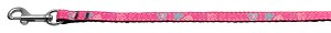 Crazy Hearts Nylon Collars Bright Pink 3/8 wide 6Ft Lsh