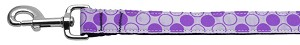 Diagonal Dots Nylon Collar Lavender 1 wide 4ft Lsh
