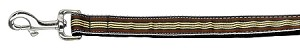 Preppy Stripes Nylon Ribbon Collars Brown/Khaki 1 wide 6ft Lsh