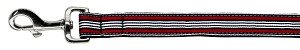 Preppy Stripes Nylon Ribbon Collars Red/White 1 wide 4ft Lsh