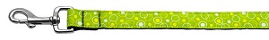 Retro Nylon Ribbon Collar Lime Green 1 wide 4ft Lsh