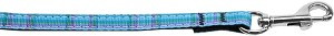 Plaid Nylon Collar Blue 3/8 wide 4ft Lsh