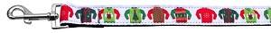 Ugly Sweater Nylon Ribbon Collars 1 wide 6ft Leash