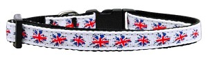 Graffiti Union Jack(UK Flag) Nylon Ribbon Collar Small