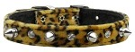 Animal Print Crystal and Spike Collars Leopard 10