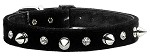 Velvet Crystal and Spike Collars Black 10