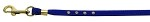 Velvet Flat Leash Blue 3/8 Clear Jewel Leash