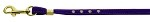 Velvet Flat Leash Purple 3/8 Clear Jewel Leash