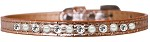 Pearl and Clear Jewel Croc Dog Collar Copper Size 10