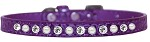 Pearl and Clear Jewel Croc Dog Collar Purple Size 10