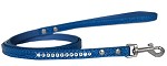 Clear Jewel Croc Leash Blue 1/2'' wide x 4' long