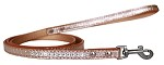 Clear Jewel Croc Leash Copper 1/2'' wide x 4' long