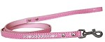 Clear Jewel Croc Leash Light Pink 1/2'' wide x 4' long
