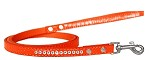 Clear Jewel Croc Leash Orange 1/2'' wide x 4' long