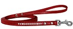 Clear Jewel Croc Leash Red 1/2'' wide x 4' long