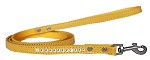 Clear Jewel Croc Leash Yellow 1/2'' wide x 4' long