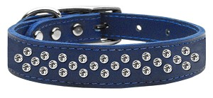 Sprinkles Clear Crystal Leather Blue 18