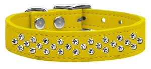 Sprinkles Clear Crystal Leather Yellow 16