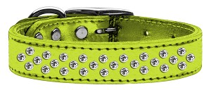 Sprinkles Clear Crystal Metallic Leather Lime Green 16