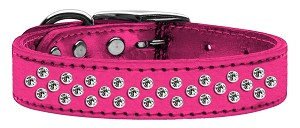 Sprinkles Clear Crystal Metallic Leather Pink 20