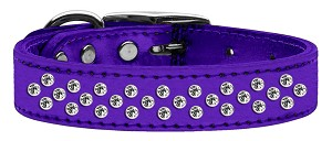 Sprinkles Clear Crystal Metallic Leather Purple 20