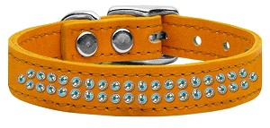Two Row AB Jeweled Leather Mandarin 20