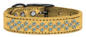 Sprinkles AB Crystal Metallic Leather Gold 16