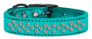Sprinkles AB Crystal Metallic Leather Turquoise 16
