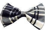 Dog Bow Tie Plaid White