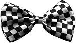 Dog Bow Tie Checkered Black