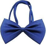 Plain Blue Bow Tie