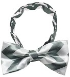 Dog Bow Tie Grey Chevron