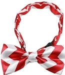 Dog Bow Tie Red Chevron