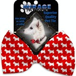 Christmas Westie Pet Bow Tie Collar Accessory with Velcro