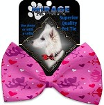 Cupid Hearts Pet Bow Tie Collar Accessory with Velcro