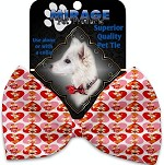 Foxy Love Pet Bow Tie Collar Accessory with Velcro