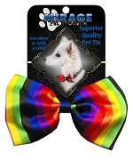 Rainbow Pet Bow Tie Collar Accessory with Velcro